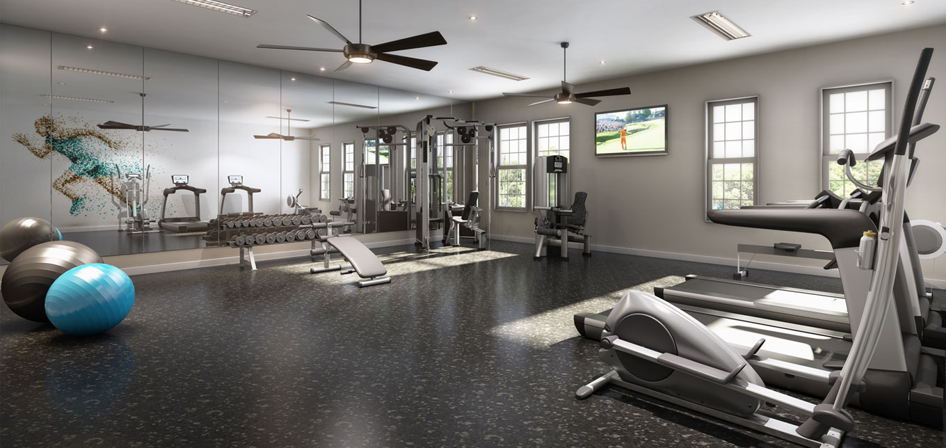 Apartments with gym amenities